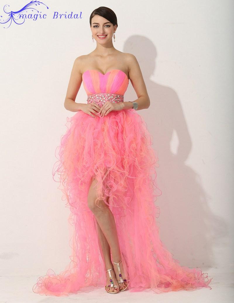 f5a6e6d158f Turmec Pink Ombre Formal Dress