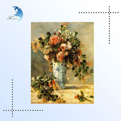New Arrival Canvas Flower Oil Painting For Wall Decoration