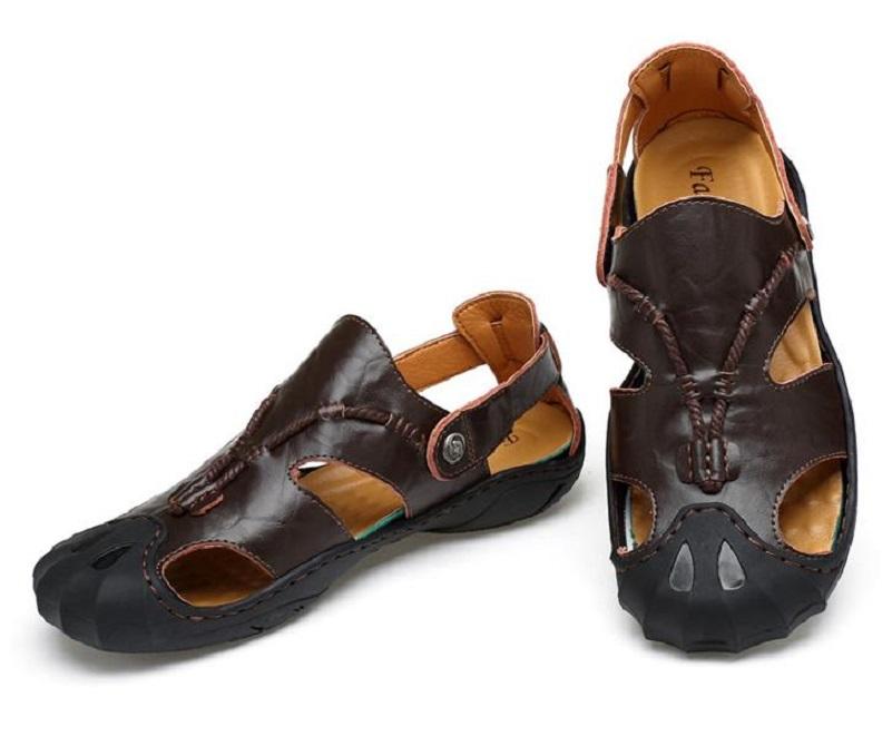 12ae3ff3ffa5 Men Sandals Leisure Beach Slip On Men Shoes Summer Breathable ...