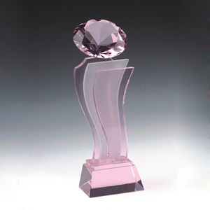 custom pink crystal trophy wholesale from china suppliers