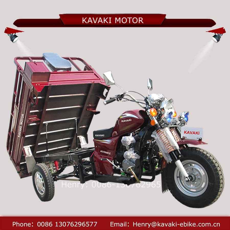 Chinese rickshaw supplier 3 wheel 200cc heavy duty triciclo food tricycle tipper for sale