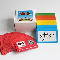Educational children learning card English learning flash memory card printing