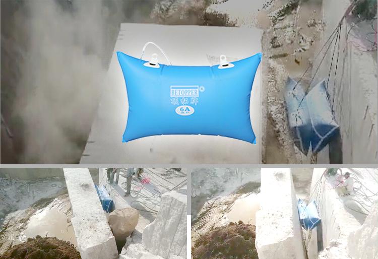 1.5 m * 1.5 m hoge efficiënte kleine mijnbouw apparatuur onderdelen air bag duwen apparaat