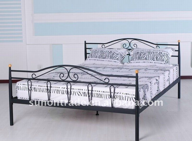 Double bed designs latest design rubber wood double bed for Double bed new design