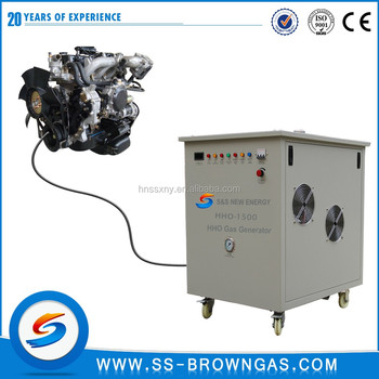 Energy saving HHO gas generator for diesel generator