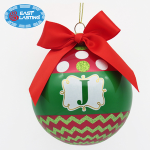 2018 hot sale dated Christmas bulb ornament crafts ball ornaments with names for outdoor Xmas decoration