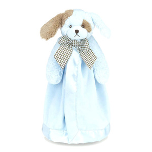 factory wholesale baby snuggler lovely dog plush animal security blanket towel