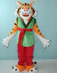 High quality built-in mini fan good ventilation adult Kungfu tiger mascot costume