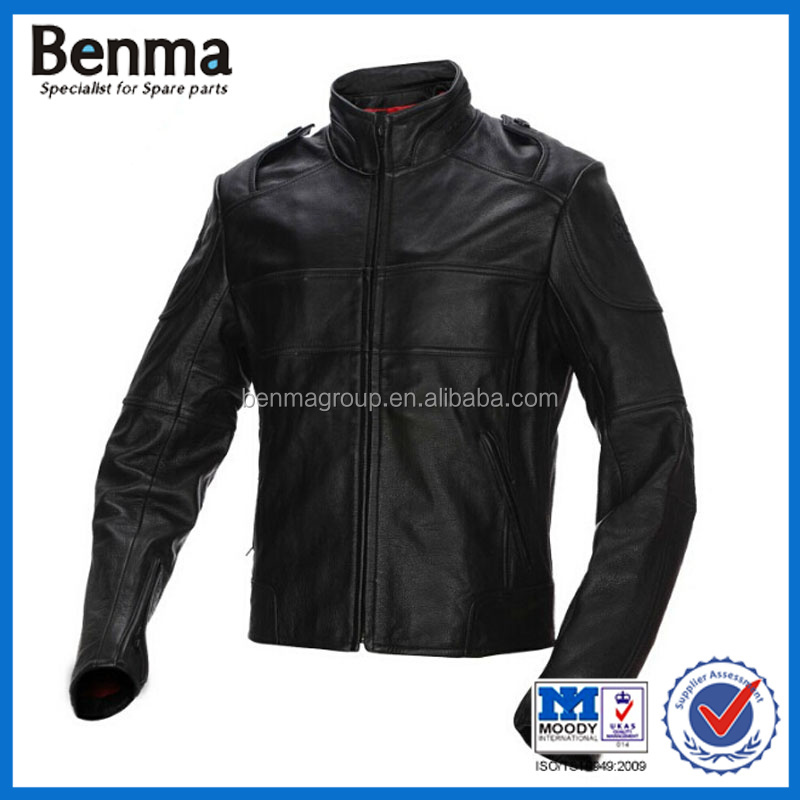 Factory wholesale full-grain leather motorcycle racing jackets