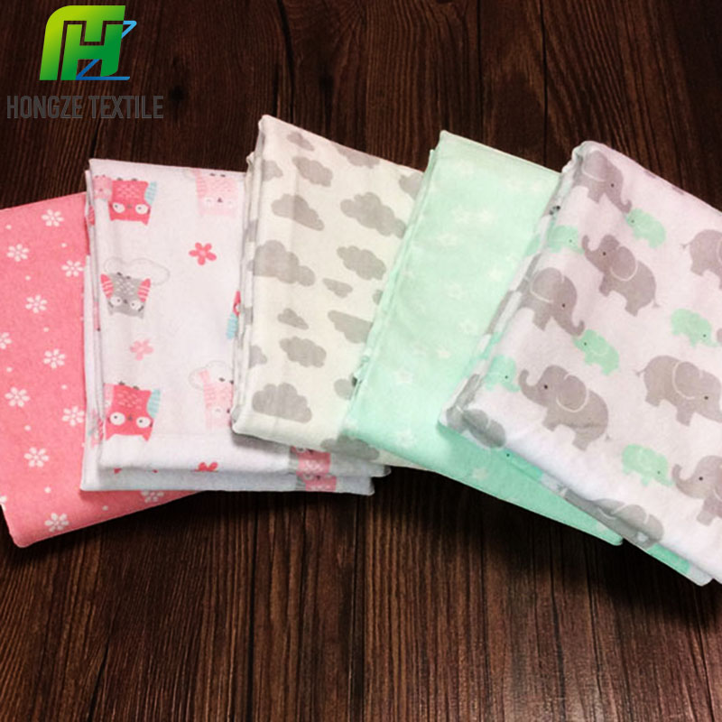 woven wholesale 100% cotton flannel receiving / swaddle blanket