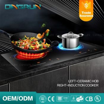 Black Electric Ce Etl Induction Cooktop With Downdraft High Power