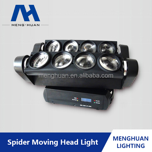 Powerful Beam 8*10W RGBW QUAD LED Spider Moving DJ Stage Club Party Lights Sweeper Beam Quad Led