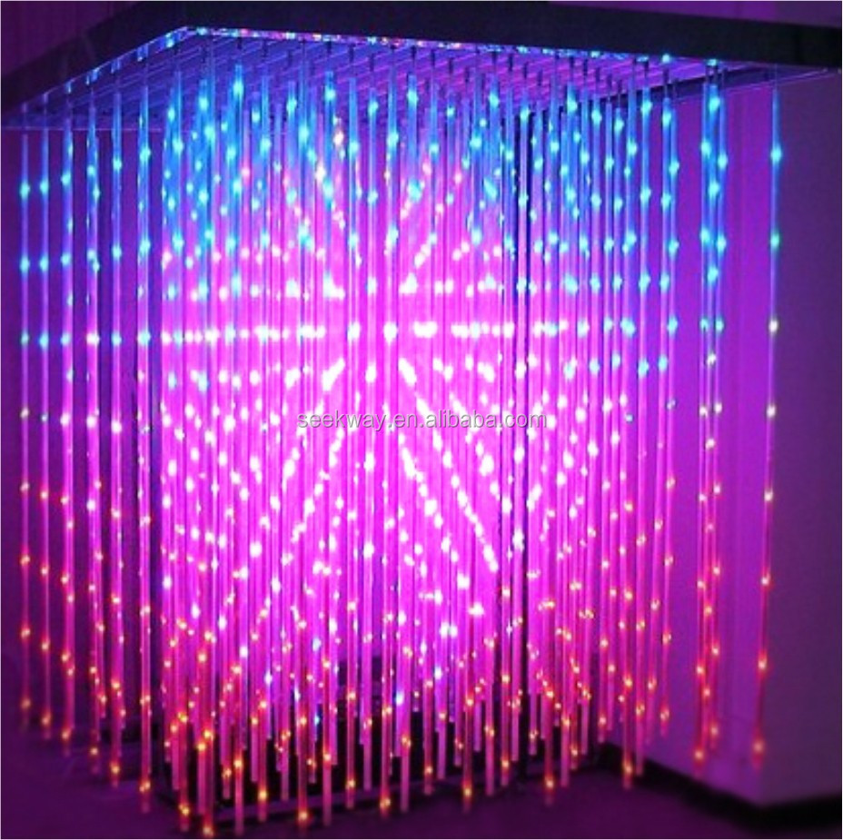 Seekway Full Color 3d Led Cube/dmx Loght For Indoor Hanging With ...
