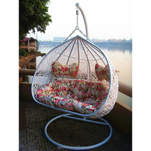 cheap used cane egg acrylic rattan ball swingasan wicker nest two seat swing chair