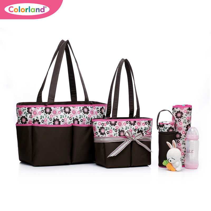2014 Sale Real 4 In 1 Carters Multifunctional Shoulder Nappy Bags Set Mother Daddy Babies Diaper Bag Changing Mat Pad Baby Care