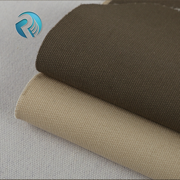 Hot sale 2017 waterproof plain dyed cotton 12oz waxed canvas fabric for tent & Hot Sale 2017 Waterproof Plain Dyed Cotton 12oz Waxed Canvas ...