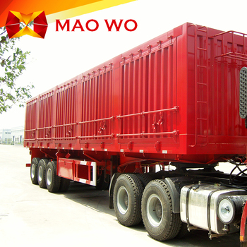 China MAOWO factory small dump trailer and tipper semi trailer for sale