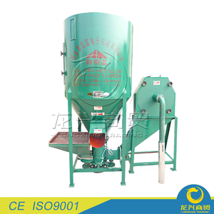 manual livestock poultry feed mixer grinder machine China equipment