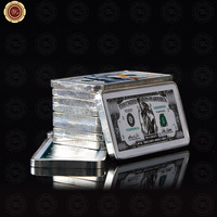 WR One Million US Dollar Silver Bar 999.9 Silver Foil World Money Metal Crafts Quality Gift Items for Men Collection