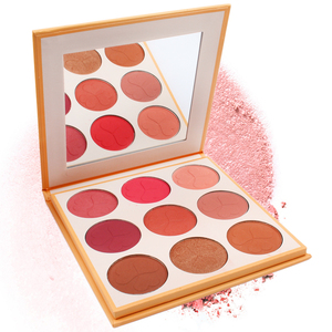 Private Label Face Make Up Cosmetics Blusher 9 Color Makeup Blush Palette