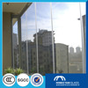 6mm 8mm 10mm flat polished edge tempered glass wall panel with ANSI