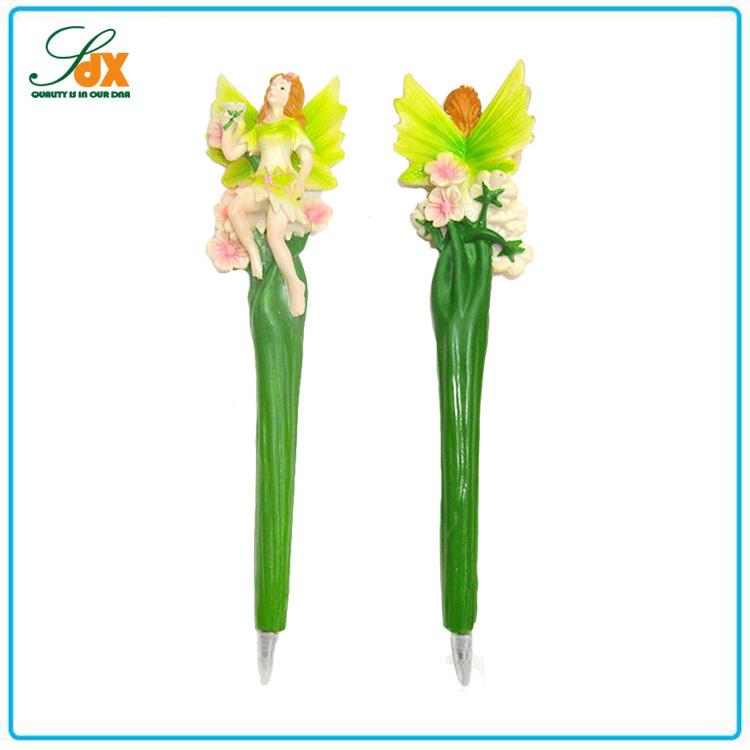 Alibaba china cheap custom unique wedding gifts resin fairy ball pen