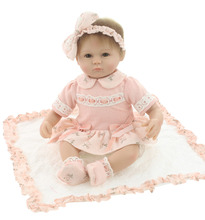 Silicone reborn baby doll toys for girl lifelike 40cm reborn babies play house toy kids child