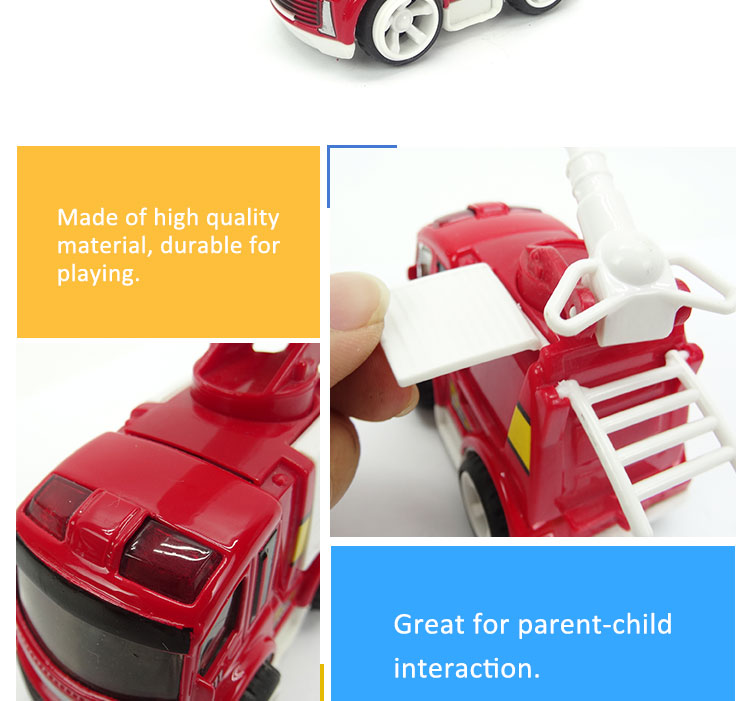 Top Selling Mini Metal Friction Fire Trucks Toy Car For Sale