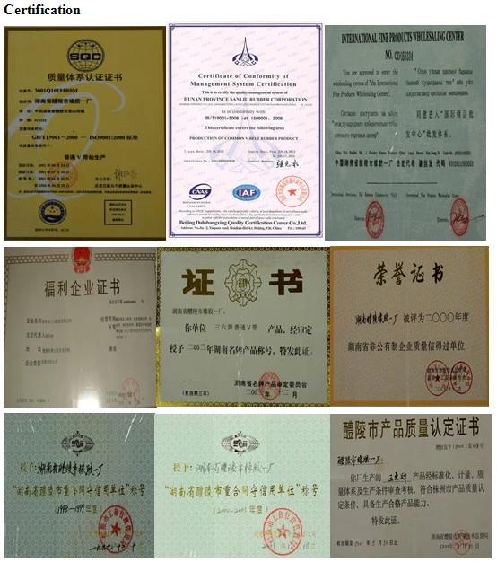 จีนผู้ผลิตมืออาชีพ b ขนาด v เข็มขัดคุณภาพดีและการแข่งขันราคา