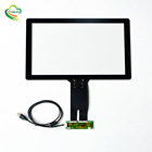 EXC80H83 USB I2C RS232 interface available 16:9 touch screen 15.6 inch usb capacitive touch screen panel