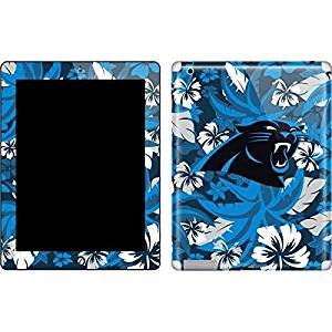 NFL Carolina Panthers iPad 2 Skin - Carolina Panthers Tropical Print Vinyl Decal Skin For Your iPad 2