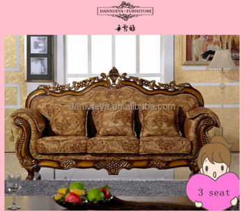 Lovely Danxueya High Quality Italy Wooden Carved Classic Sofa