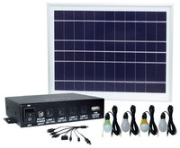 8W Portable Off-grid Mini home solar Panel lighting kit USB Mobile Charger for Africa