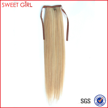 50 Cm Piano Color 27/613 Human Hair Ponytail