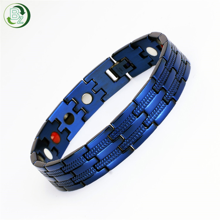 TY225QN Classic Blue Adjustable Health <strong>Energy</strong> <strong>Magnetic</strong> <strong>Bracelet</strong> India For Men'S Health