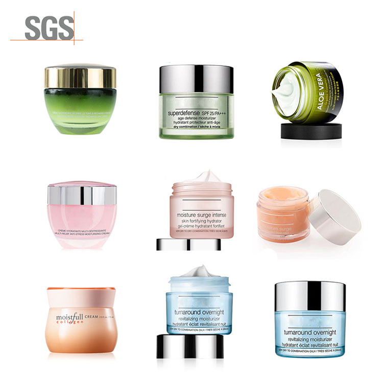 Private label skin care cosmetics facial cream lotion organic day and night beauty  whitening face body cream