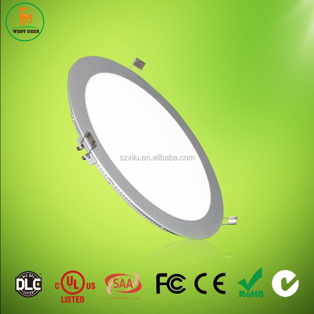 High luminance 10' 25W led round panel lights with 3 years warranty