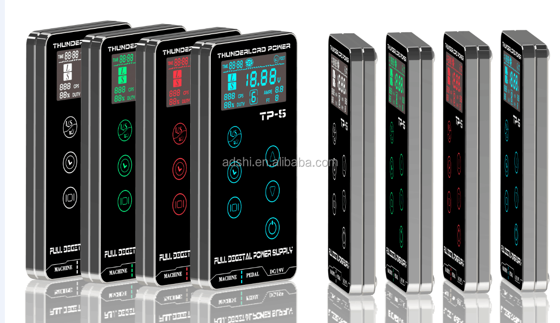 Tato Power Supply Upgrade Mesin Tato Cerdas Digital LCD Makeup Dual Power Tato Persediaan Set