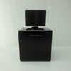 Square black glass fancy perfume bottle long time sex spray for men with wooden cap
