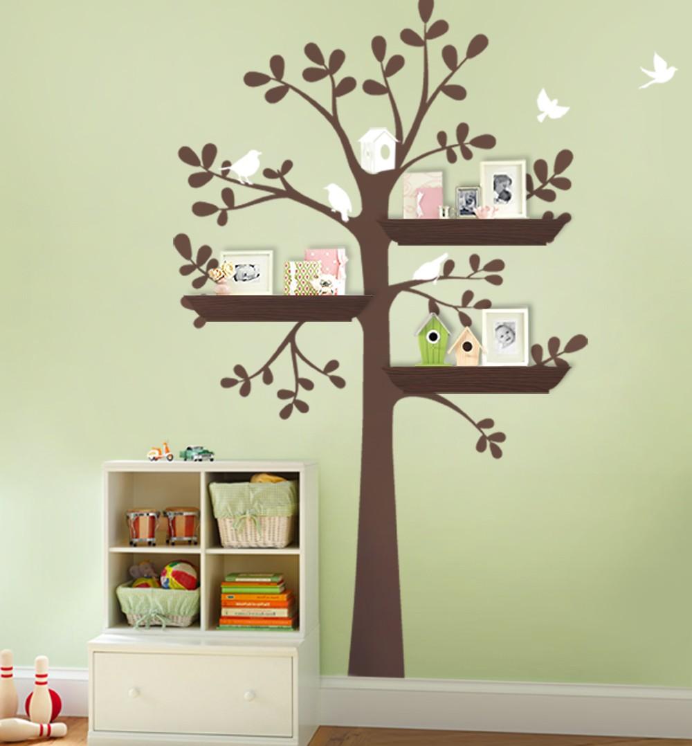 Owl Birds Tree Wall Decal For Nursery