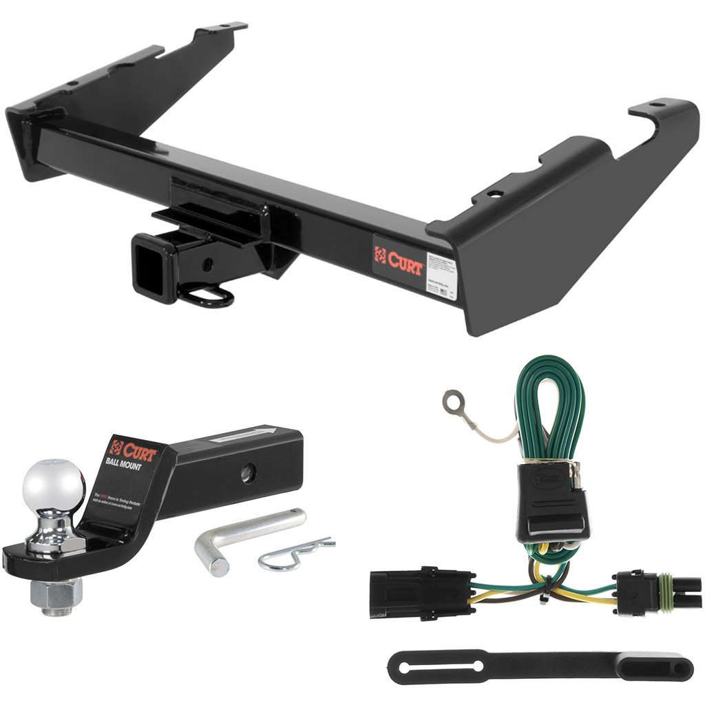 """CURT Class 3 Hitch Tow Package with 2"""" Ball for Chevrolet Suburban, GMC Suburban"""
