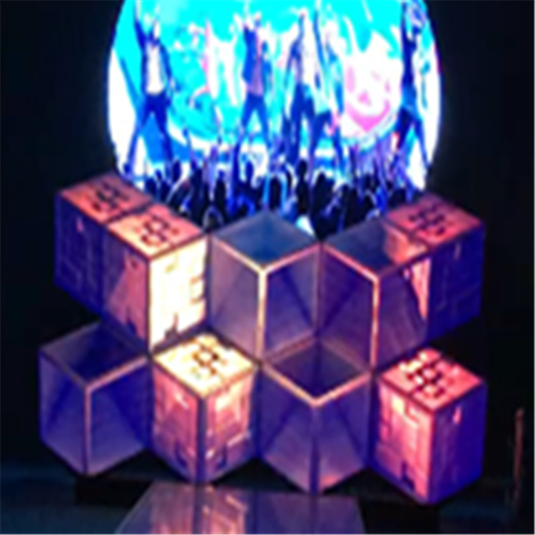 Nightclub decoration 3d effective  led screen video dj booth for sale