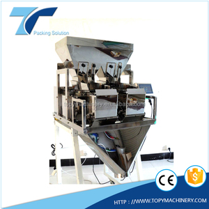 TOPY VW2 2 head automatic weighing packaging machine, digital weighing scale