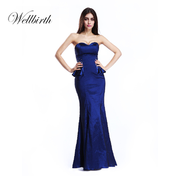 a9b1c1309 Formal Royla De Novia Fiesta Vestido Bodycon Azul Oscuro De Dama De Honor  Vestidos Noche Largo - Buy Vestido,Vestidos De Noche,Vestido De Noche Azul  ...