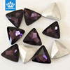 Triangle shape 16mm decorative colored glass stones for jewelry making and dress
