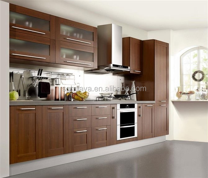 Pvc Wood Grain Open Floorplan Philippines Kitchen Cabinet - Buy ...