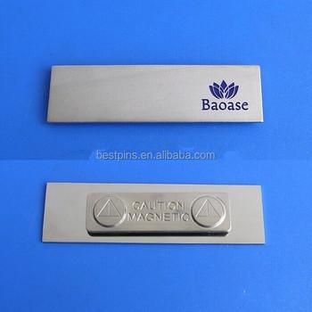 logo engraved company job name badge work man name label name plate