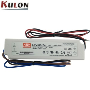 Single output dc 24V IP67 LPV - 60 series 60W switching Power Supply