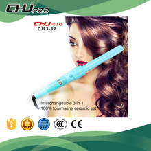 Light blue 3 in 1 hair curling iron wave pro lcd hair curler