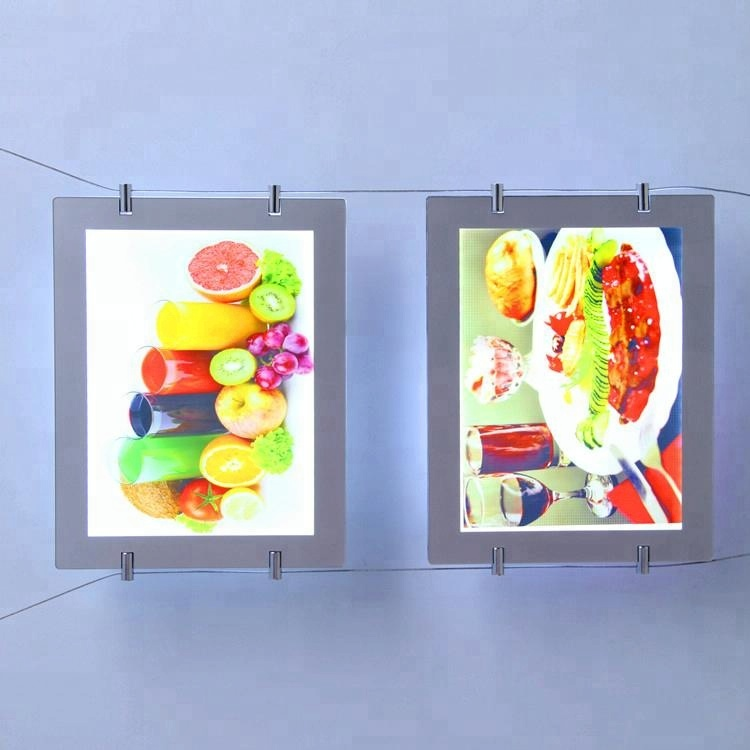 Single/Double Dide Transparent Crystal Window Display LED Advertising Light Box